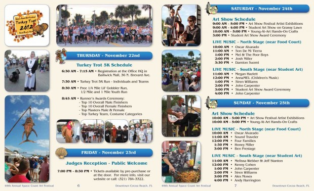 2012 Festival Schedule of Events