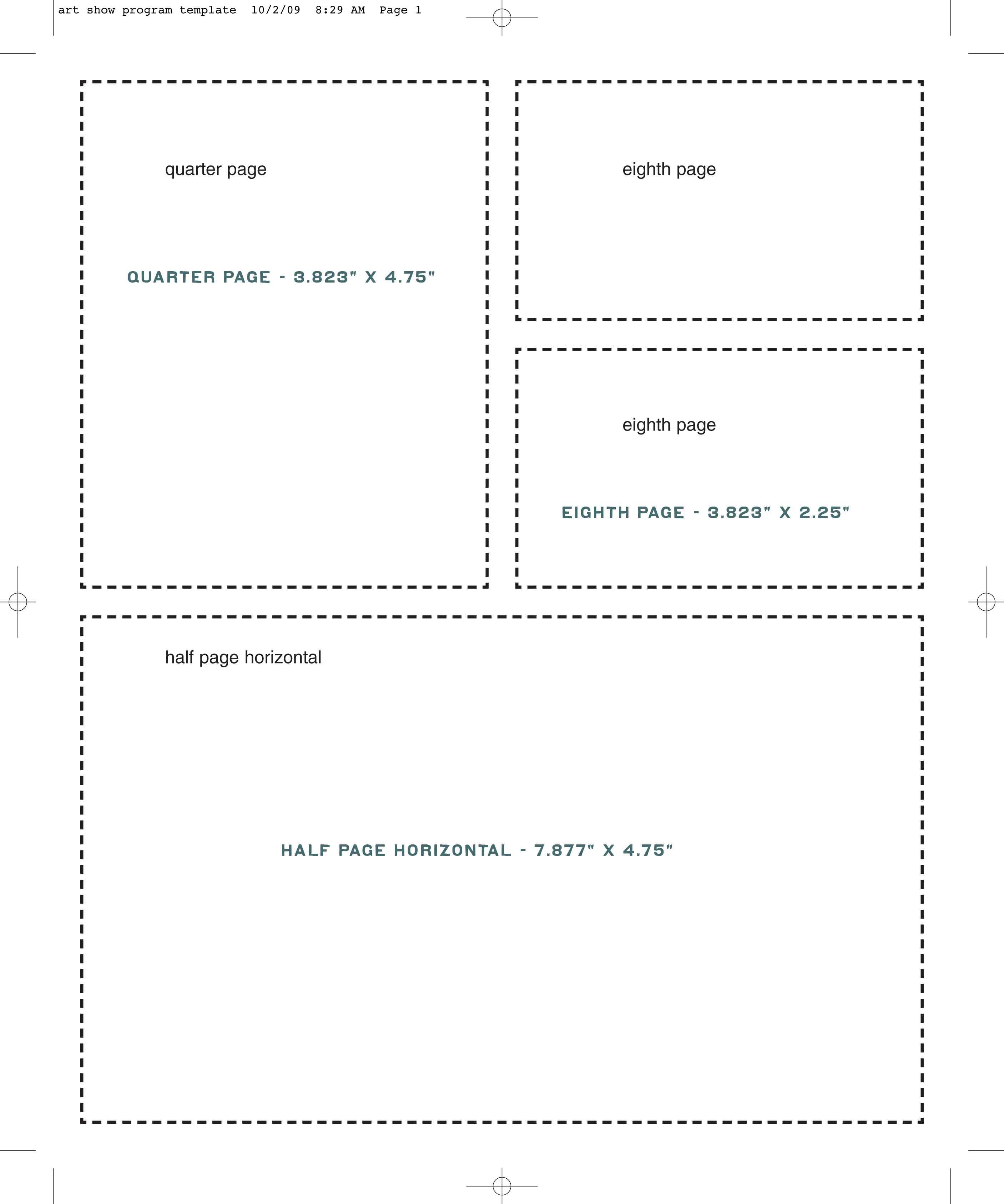 half sheet template